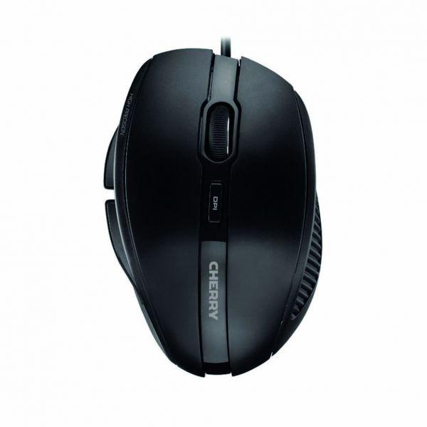 CHERRY Mouse MC 3000 USB, Schwarz 1.8m, 5 Tasten, ergonomisch